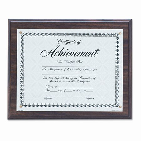 DAX Award Plaque, Wood/Acrylic Frame, fits up to 8-1/2 x 11, Walnut