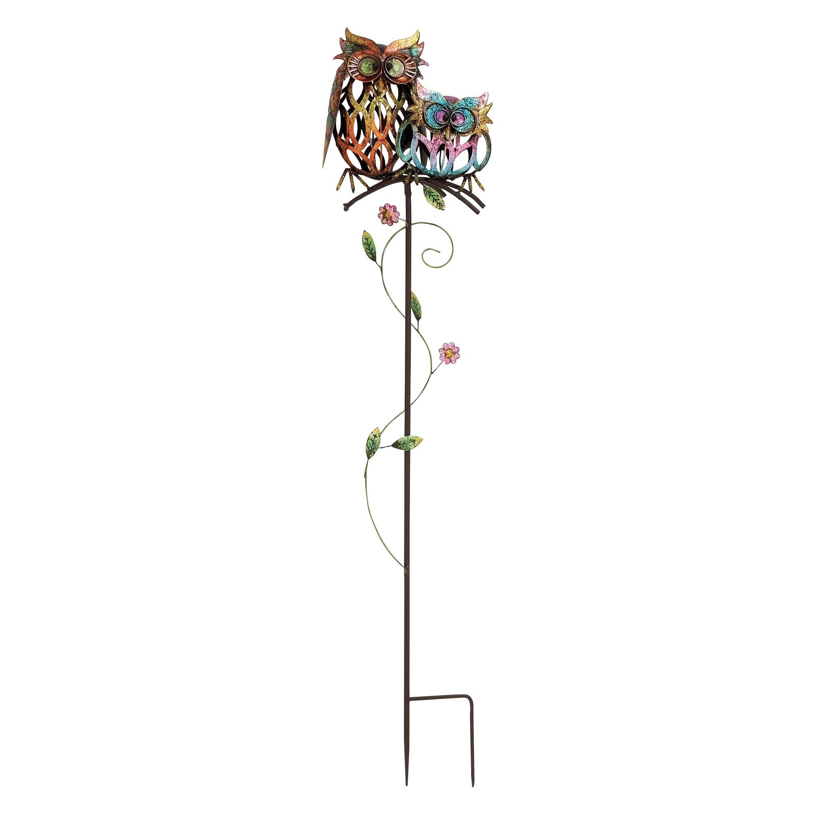 Attractive Styled Metal Owl Garden Stake by DecMode