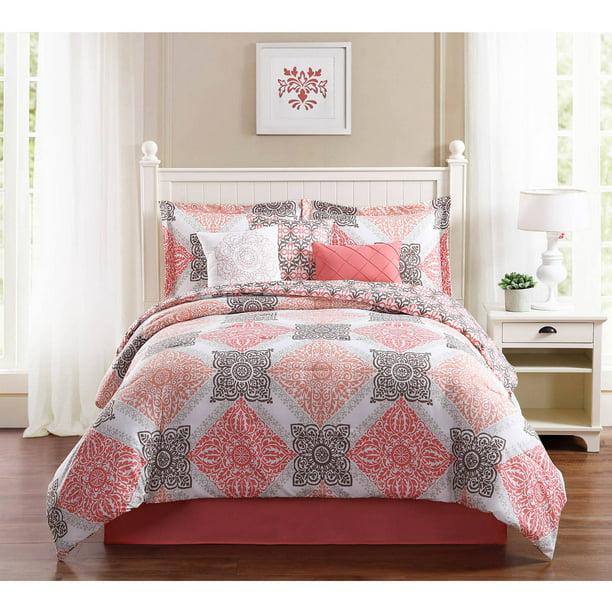 Mallory 7 Piece Comforter Set Walmart Com Walmart Com