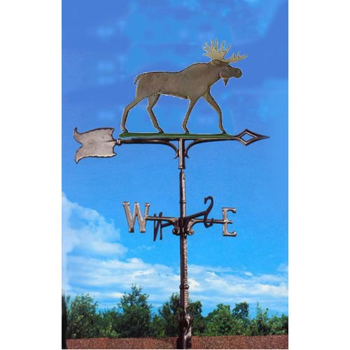 30 in. Multicolored Moose Rooftop Weathervane