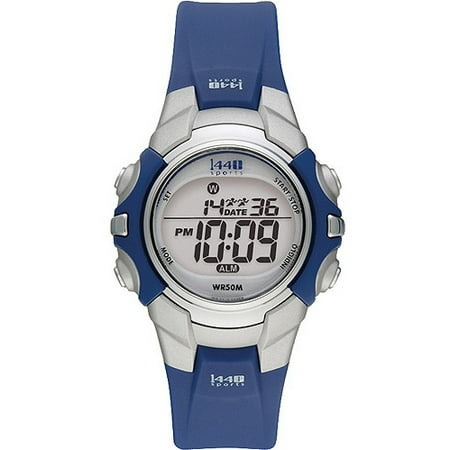 3ce4b3315 Timex - Timex Women's T5J131 1440 Sports Digital Blue Resin Strap Watch -  Walmart.com