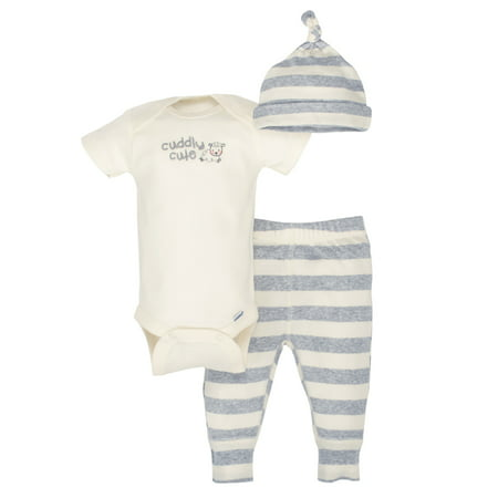 Newborn Baby Boy or Girl Unisex Organic Take-Me-Home Outfit Set, - Newborn Santa Outfit Boy