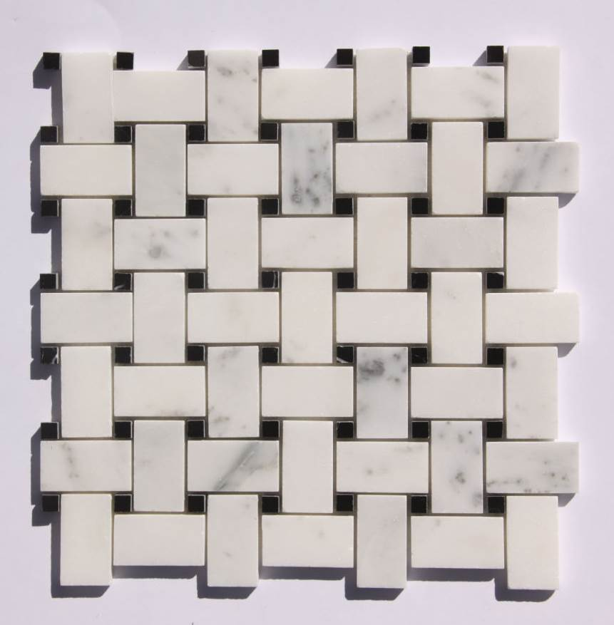 12.75 in. Mosaic Mix with Stone -SF in White and Gray