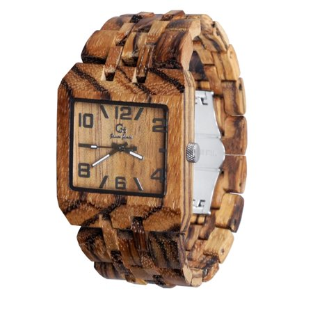 Wooden wristwatches for men- Fit wristwatch-Wood watch-wood craft- wood art-Christmas gift-Wedding -Anniversary gift - Men's watch Style Omega 3 Series 2 Zebrawood