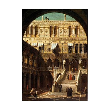 The Giants' Steps, Venice, 1765 Print Wall Art By Canaletto