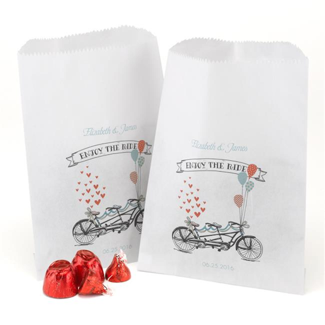 Hortense b Hewitt 32682P Tandem Bike Treat Bags - White