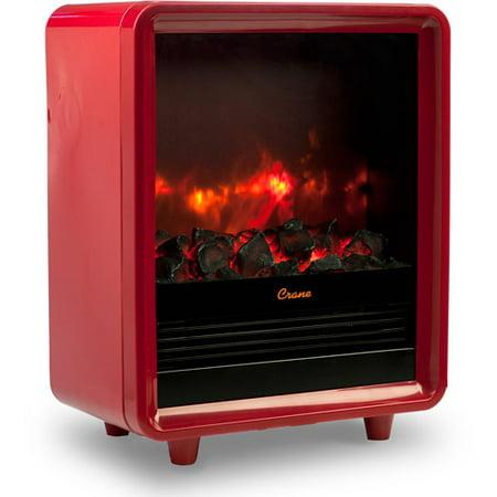 Crane Fireplace Heater Red Walmart Com