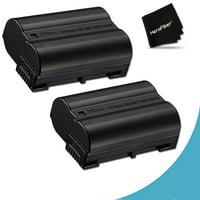Pack of 2 - EN-EL15 High Capacity Batteries for Nikon DSLR Cameras including the Nikon D750 D7200, D810A, D7000, D7100, D800, D800E, D600, D610, 1V, These ENEL15 Batteries have 2400mAh each and are eq