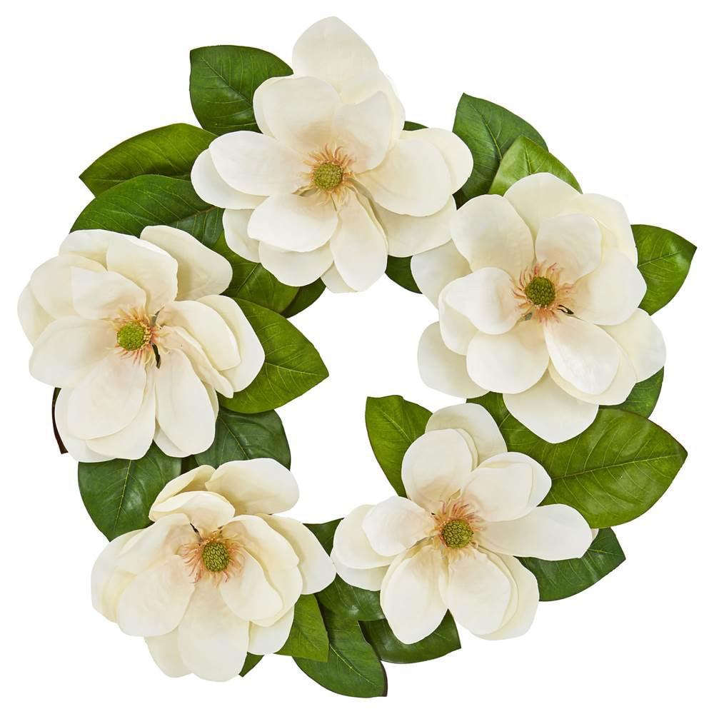 23 Magnolia Artificial Wreath