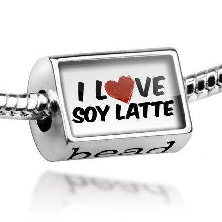 Bead I Love Soy Latte Coffee Charm Fits All European (Soy Beads Melter)