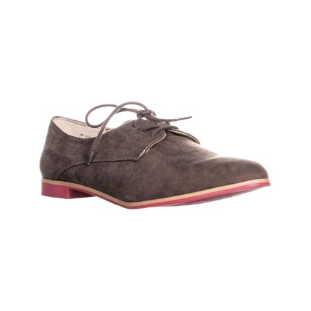 Womens AR35 Stanny Flat Slip On Oxfords, Taupe