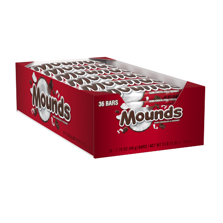 20 Halloween Foods (Mounds, Dark Chocolate & Coconut Candy Bar Box, 1.75 Oz., 36)