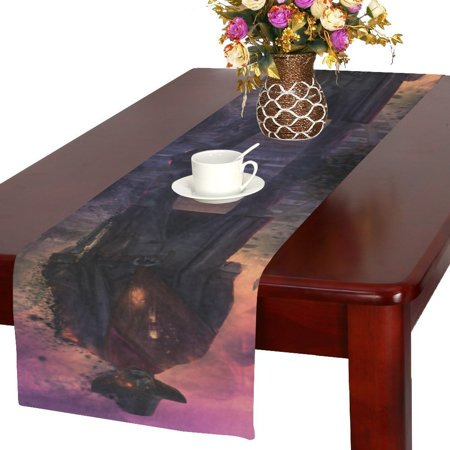 MYPOP Ghost Cowboy Table Runner 16x72 inch For Dinner Parties Events Home Decor