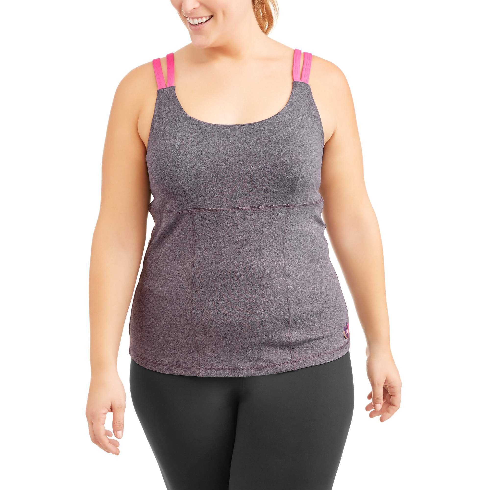 Heather Grey, 2X, 20W-22W Avia Womens Plus Size Front Zip Active Performance Jacket