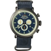 SHINOLA The Runwell Contrast Chrono Slate Blue Leather Men's Watch 11000146