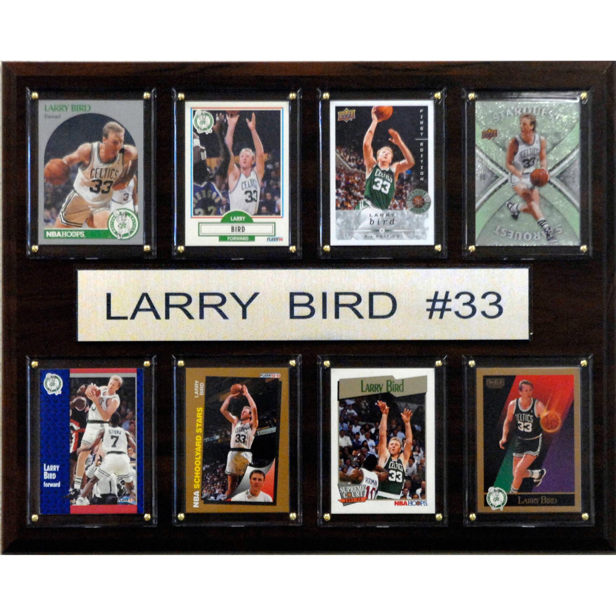 C&I Collectables NBA 12x15 Larry Bird Boston Celtics 8-Card Plaque
