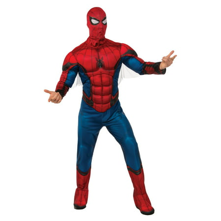 Men's Deluxe Spider-Man Muscle Chest Costume (Spiderman Costumes Adults)