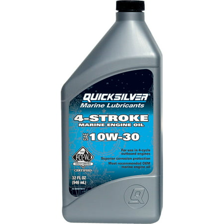 (3 Pack) Quicksilver 10W-30 4-Stroke Marine Oil - 1 Quart