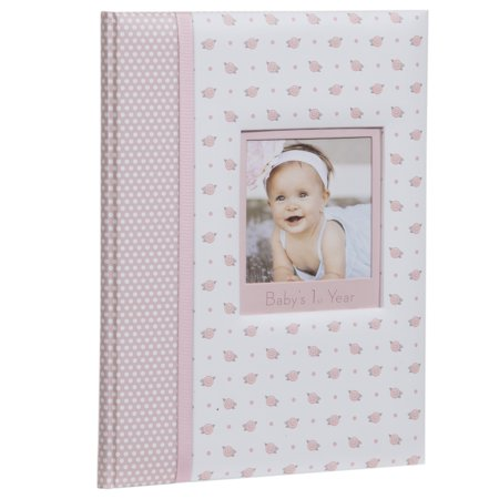 - Pinnacle Frames and Accents Baby Girl's First Year Milestone Memory Book Journal and Photo Album