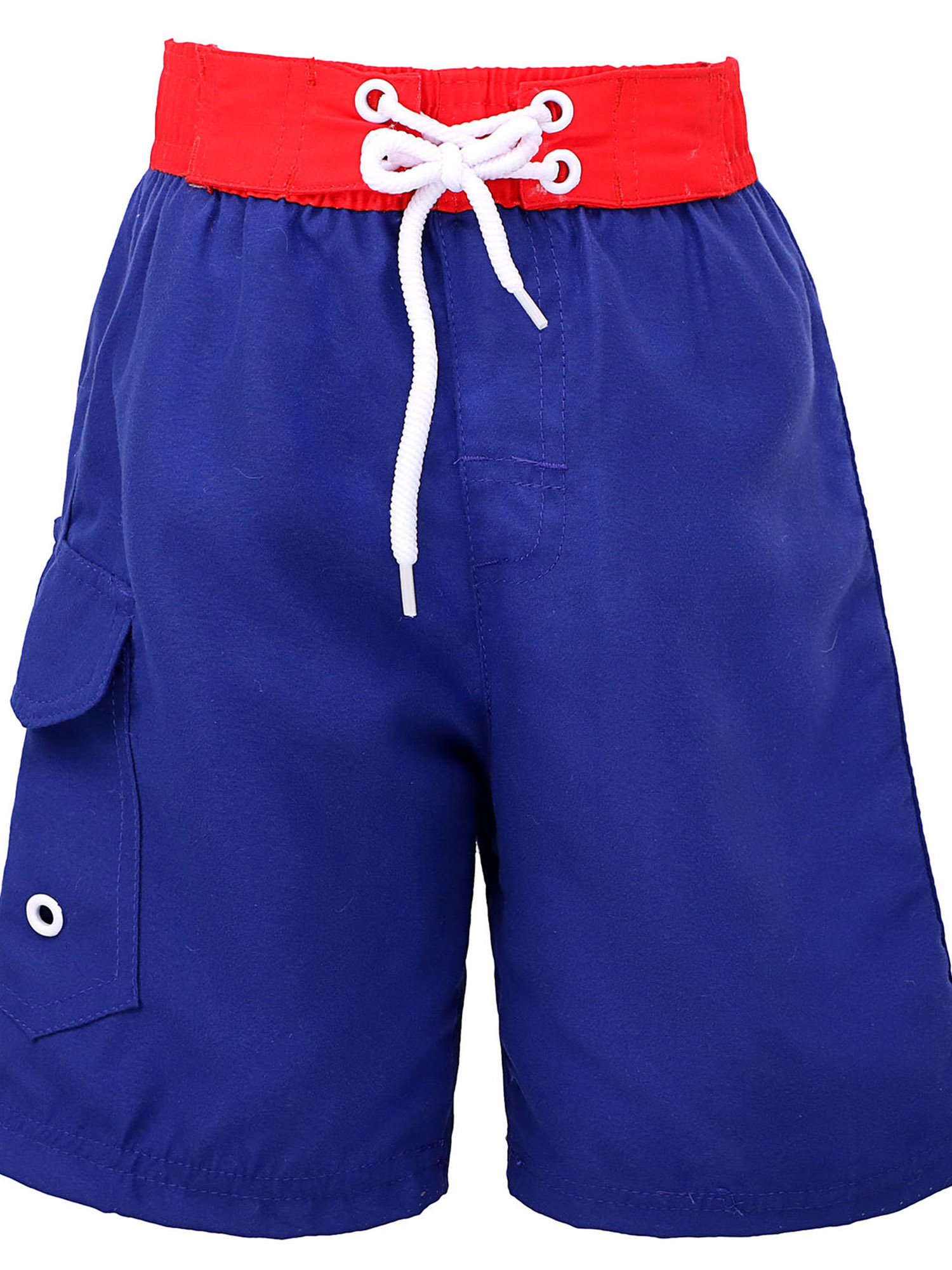 Fast Drying Sea Creature 50+ Sun Protection Kids' Swim Trunks,Blue,XS