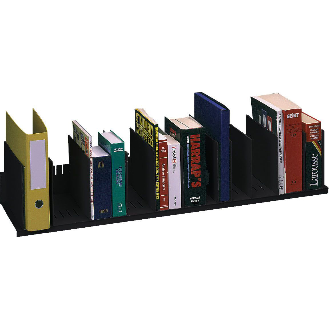 "Paperflow Individualized Vertical Organizer, 44"" W, Black (2034.01)"