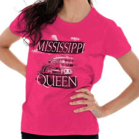Brisco Brands Mississippi Queen Riverboat MS Adult Tee Shirt For -
