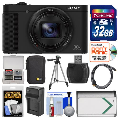 Sony Cyber-Shot DSC-HX80 Wi-Fi Digital Camera with 32GB Card + Case + Battery & Charger + Tripod + Kit
