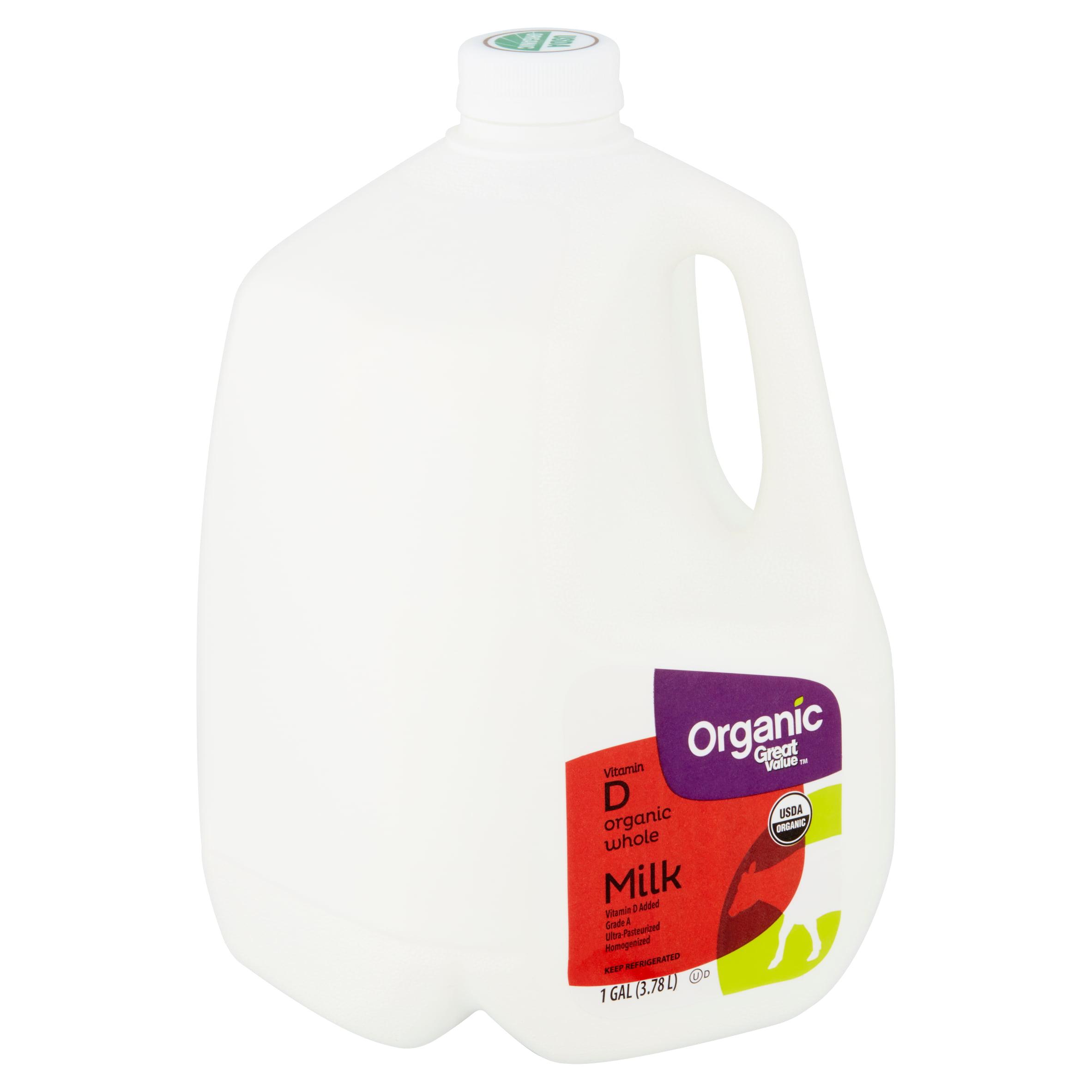 Great Value Organic Whole Milk 1 Gallon Walmart Com Walmart Com