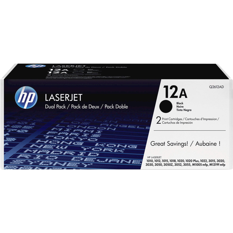 HP, HEWQ2612D, Q2612D Toner Cartridge, 2 / Box