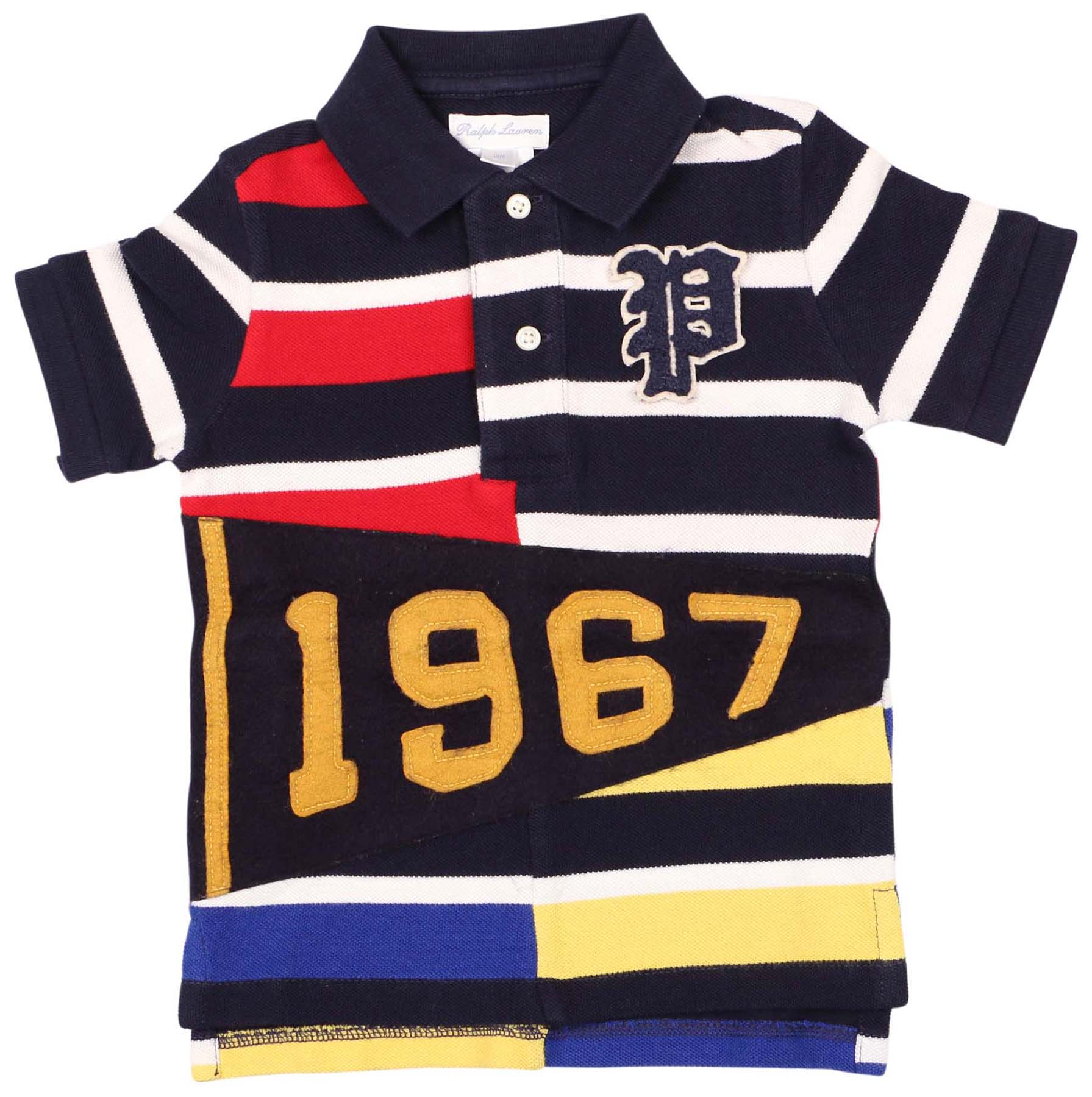 Polo Ralph Lauren Big Boys' (8-20) Pennant Mesh Polo Shirt-French Navy