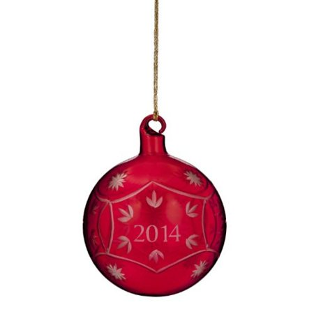 Marquis By Waterford Annual 2014 Ornament, Red Ball Waterford Marquis Crystal Ornaments