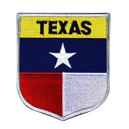 State Flag Shield Texas Patch Badge Travel USA Seal Embroidered Sew On Applique ()
