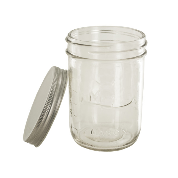 Wide Mouth Mason Jars with Lids Set, Pack of 6
