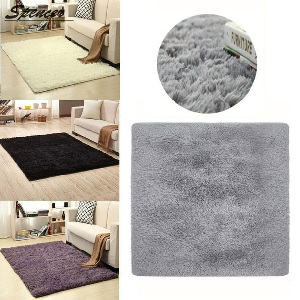 Spencer Soft Microfiber Absorbent Non Slip Bathroom Shower Rugs Carpet Area Nursery Rugs Machine Washable Bath Mats Purple 16 X 16 Walmart Com Walmart Com