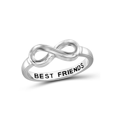 Best Friends Sterling Silver Infinity Ring (Infinity Ring Engraved Best Friends)