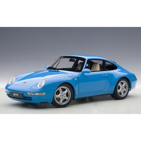 1995 Porsche Carrera 911 993 Riviera Blue Metallic 1/18 Diecast Model Car by Autoart
