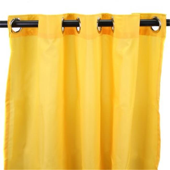 544 in. x 84 in. Outdoor Curtain - Solid Dandelion
