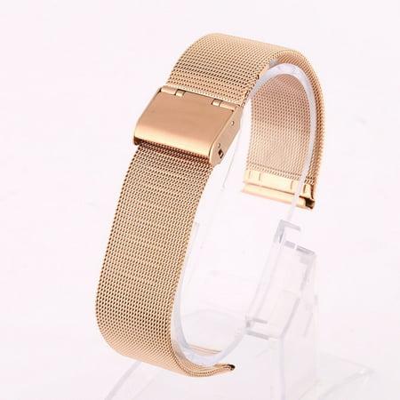 Esho Men Women Stainless Steel Wrist Watch Strap Band Mesh Belt Replacement