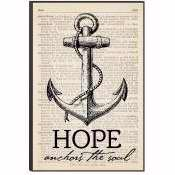 Mounted Print-Bible Art-Hope Anchors The Soul (12 x 18)