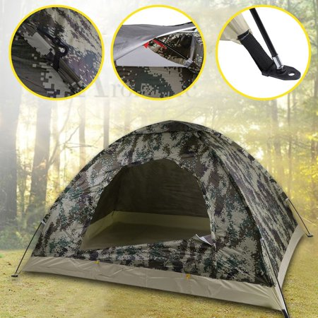 - Outdoor Hiking Fishing Waterproof 4 Season 2 Person Foldable Camping Tent