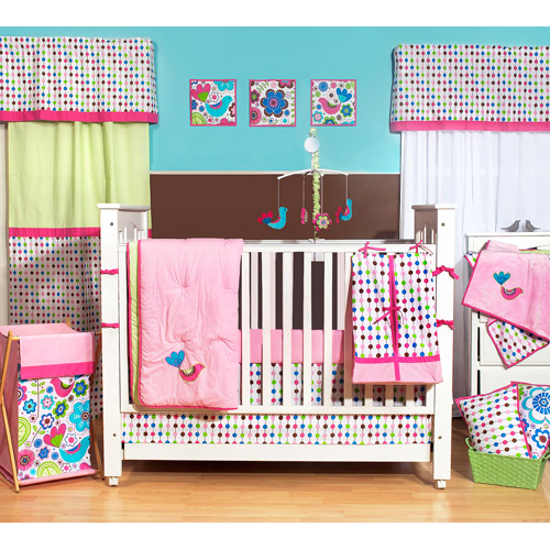 Bacati - Botanical 10pc Nursery in a Bag Crib Bedding Set