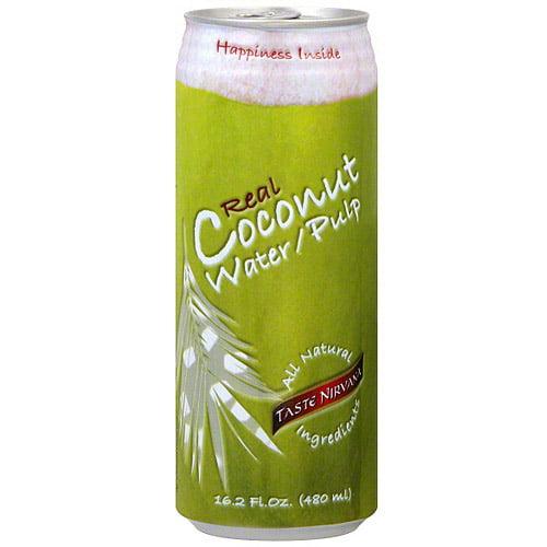 Taste Nirvana Coconut Water With Pulp, 16.2 oz (Pack of 12)