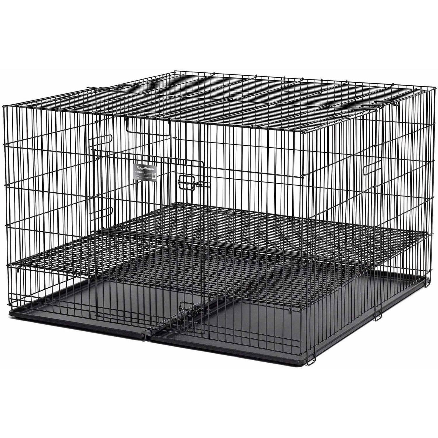 "Midwest Puppy Playpen with Plastic Pans and 1/2"" Floor Grid"