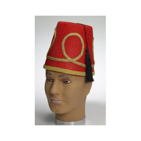 DELUXE RED FEZ HAT