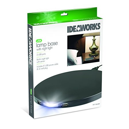 Black Light Night (Ideaworks USB LAMP BASE WITH NIGHT LIGHT)