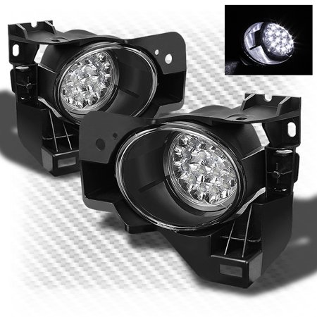 2009-2014 Maxima LED Driving Fog Lights/Daytime Running w/Switch Complete Set 2010 2011 2012 2013 Pair