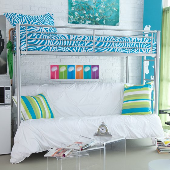 Duro Wesley Twin Over Futon Bunk Bed