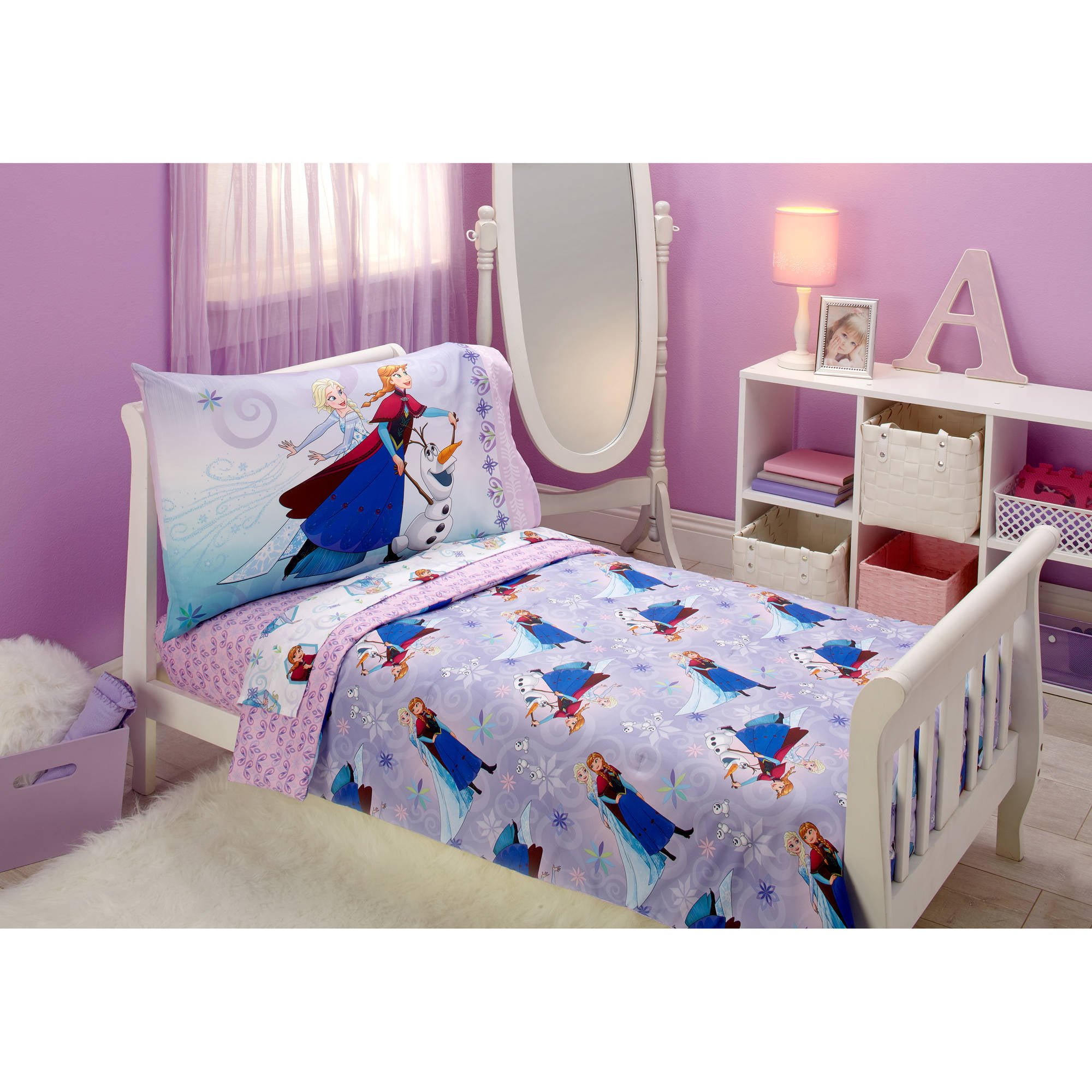 Disney Frozen 4 Piece Toddler Bedding Set Unleash The