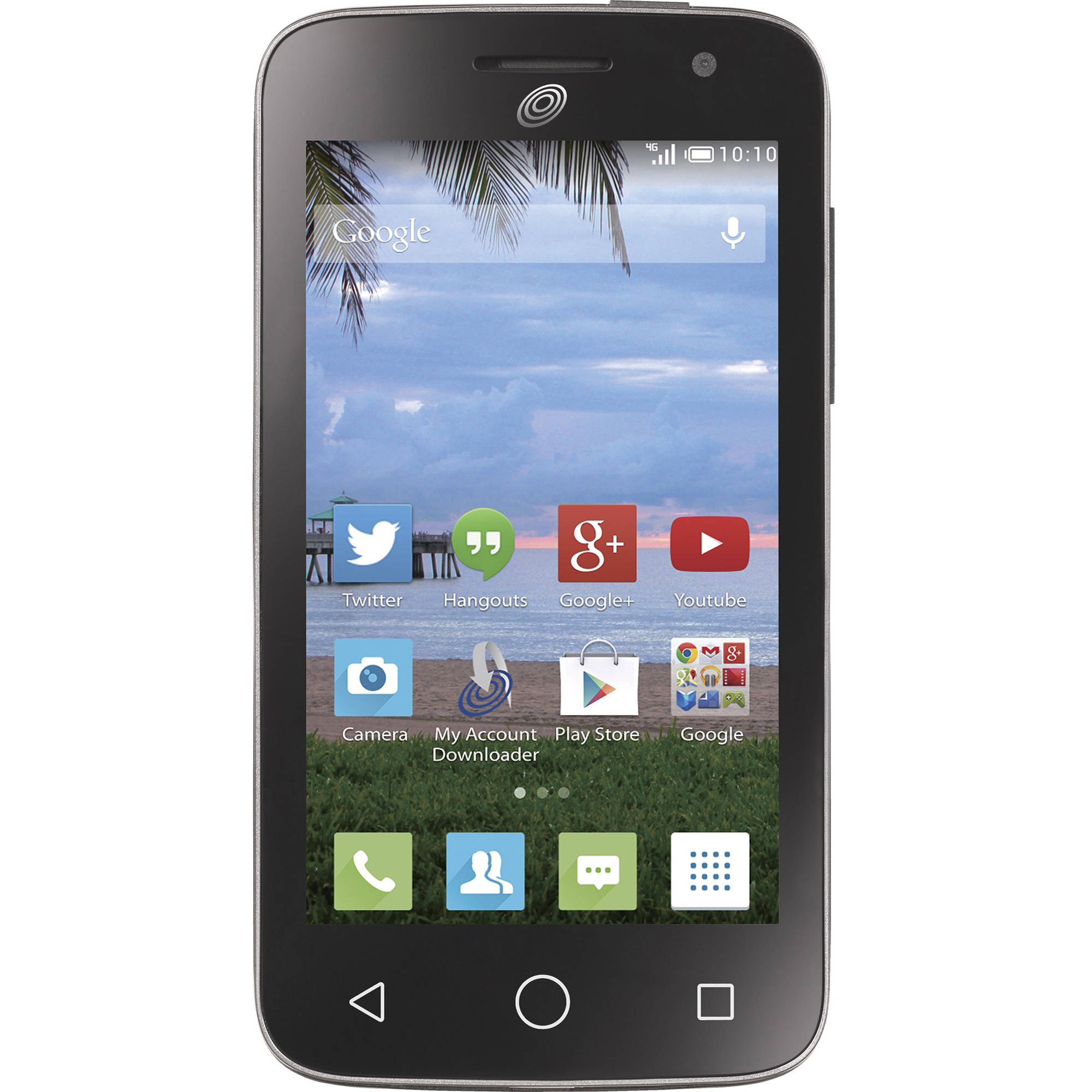 Straight Talk Alcatel Pop Star 2 4GB Prepaid Smartphone, Black