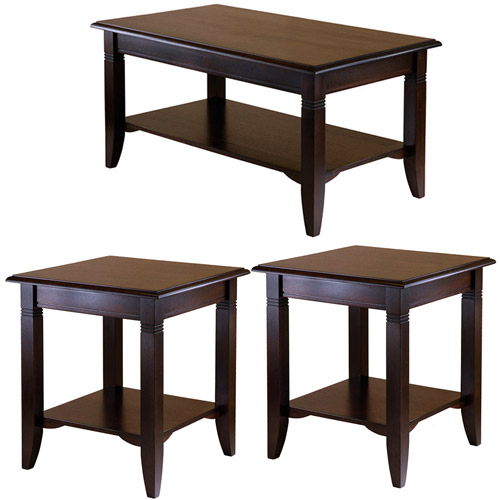 - Nolan Coffee Table & End Tables Value Bundle, Cappuccino - Walmart.com